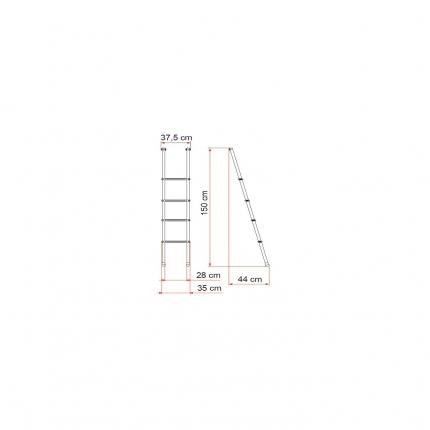 爬梯——Alkovenleiter Deluxe 4B