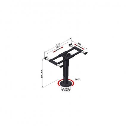 可升降旋转桌架——5898 A08