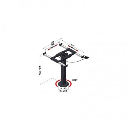 升降旋转桌架——5946 A08