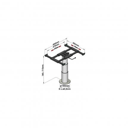 可升降旋转桌架——5988G06