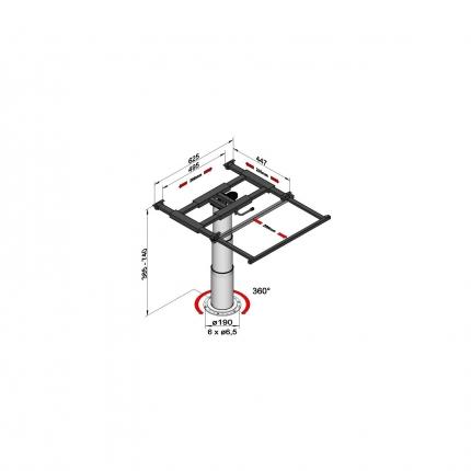 可升降旋转桌架——7104 G08