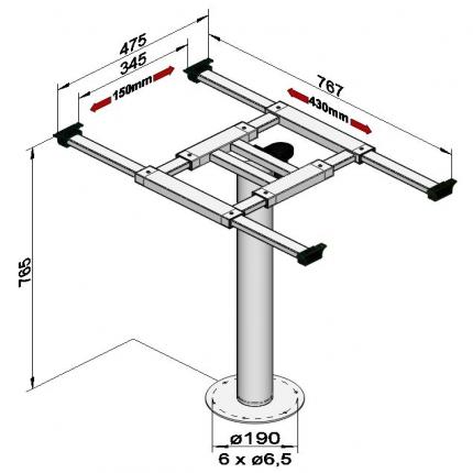 固定式桌架——5946GRA